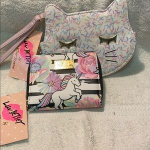 NWT Betsey Johnson wallet and coin purse set